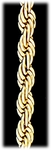 Bracelet Gold Large Rope Chain 8 inch