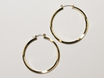 earring gold joint and catch 1 5/8 inch hoop