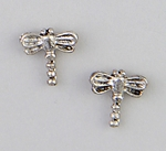 Earrings silver dragonfly