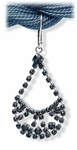 Earring Silver Euro Clasp Black Fancy Crystal Drop Chandelier