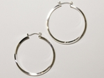 earring silver joint and catch 1 5/8 inch hoop