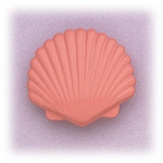 Enameled scallop shell