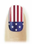 Fingernail Art Veneers Freedom flag design