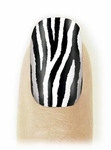 Fingernail Art Veneers Zebra design