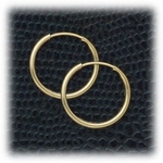 Gold Endless and Continuous Hoops