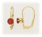 Gold Euro Clasp Lever Back birthstones