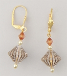 Gold Lever Back Euro Clasp Earrings