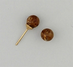 gold posted Ball 6mm Tiger Eye simulated