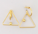 Gold Posted Clutchless Hoops