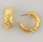 gold posted hoops