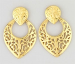 Gold Posted Large Earrings