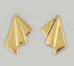 Gold Posted Medium Earrings