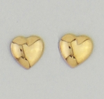 Gold Posted Small Earrings