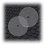Jewelry Components Acrylic clear disk earring backs - 2 Pair