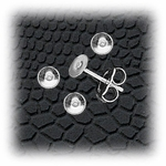 Jewelry Components Stainless Steel 4mm Disc - 2 Pair