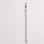Necklace Extender Silver Rollo Chain 2 inch