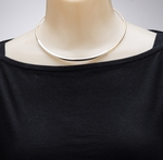 Necklace gold and silver neck collar with 3 inch extender chain