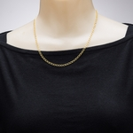 necklace gold curb chain