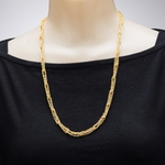 necklace gold looped pendant chain