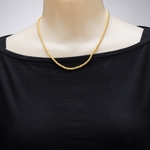 necklace gold rope