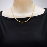necklace gold rope twisted rope