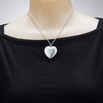 necklace silver 16 inch necklace heart pendant with ab flecks