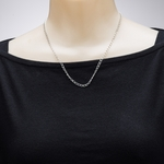 necklace silver curb chain