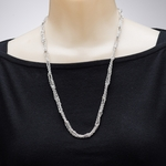 necklace silver looped pendant chain