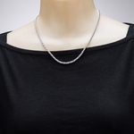 necklace silver rope
