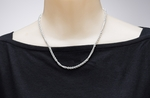 necklace silver rope twisted rope