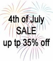 4th of July Sale 35% Off