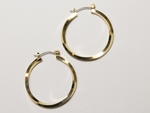 pierced earring gold joint and catch 1 1/4 inch hoop