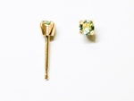 pierced earring gold plated stainless 3mm August tiffany