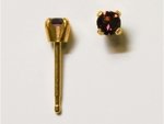 pierced earring gold plated stainless 3mm February tiffany