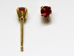 pierced earring gold plated stainless 3mm July tiffany
