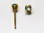 pierced earring gold plated stainless 3mm March tiffany