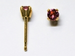 pierced earring gold plated stainless 3mm October tiffany