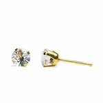 pierced earring gold plated stainless 5mm April tiffany