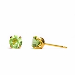 pierced earring gold plated stainless 5mm August tiffany