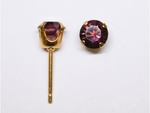 pierced earring gold plated stainless 5mm February tiffany