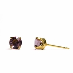 pierced earring gold plated stainless 5mm June tiffany