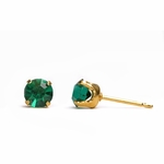 pierced earring gold plated stainless 5mm May tiffany