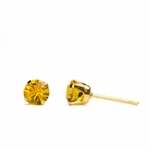 pierced earring gold plated stainless 5mm November tiffany