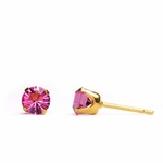 pierced earring gold plated stainless 5mm October tiffany