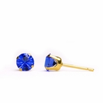pierced earring gold plated stainless 5mm September tiffany