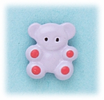 pierced earring posted lavender and pink teddy bear