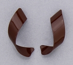 pierced earring posted stainless steel chocolate curls