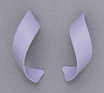 pierced earring posted stainless steel lavender curls