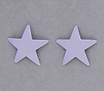 pierced earring posted stainless steel medium star lavender