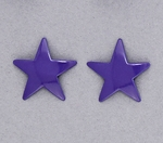 pierced earring posted stainless steel medium star purple
